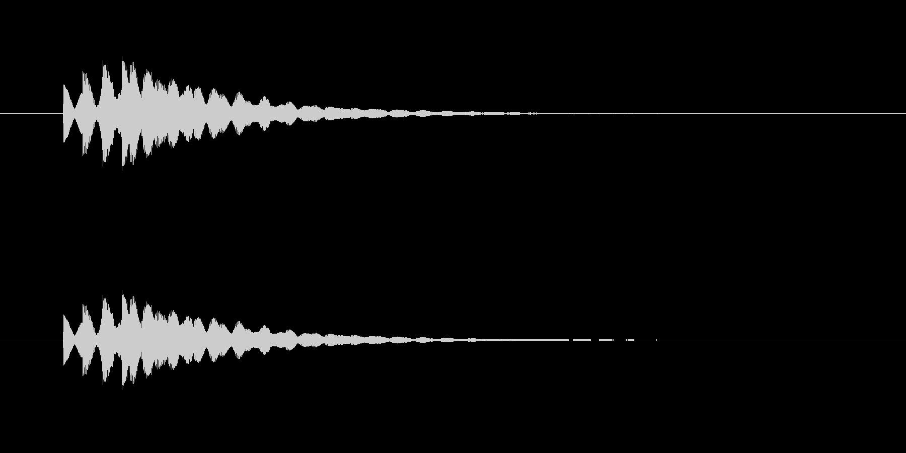 ピポピポン(やわらかいチャイム音)の未再生の波形