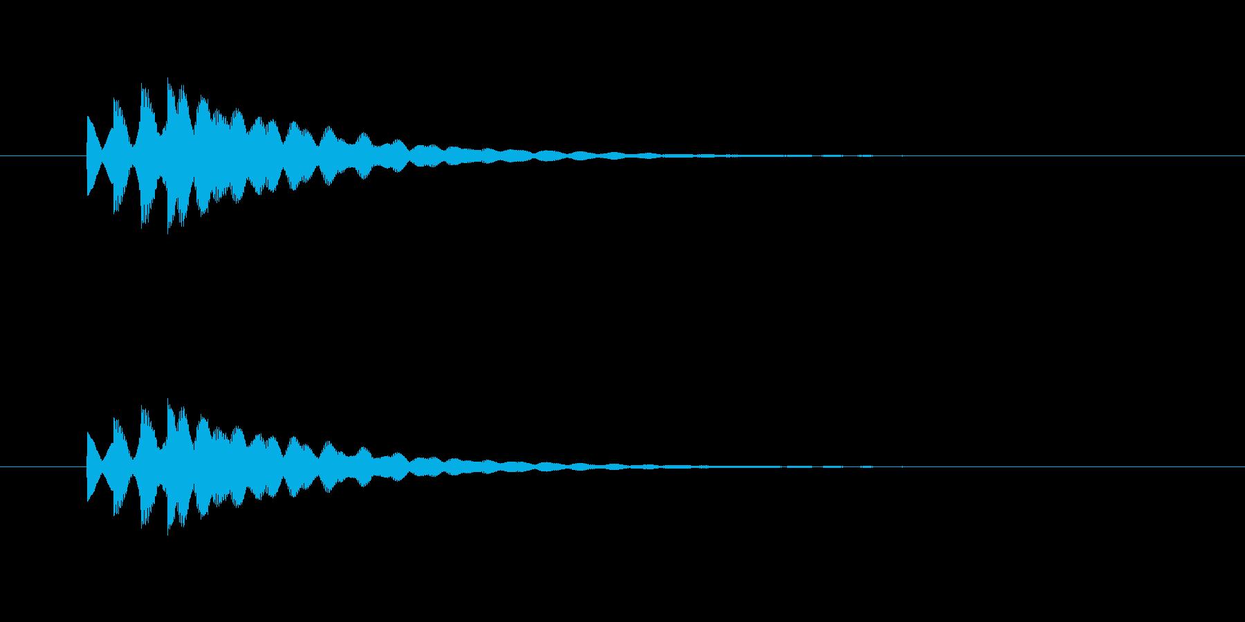 ピポピポン(やわらかいチャイム音)の再生済みの波形