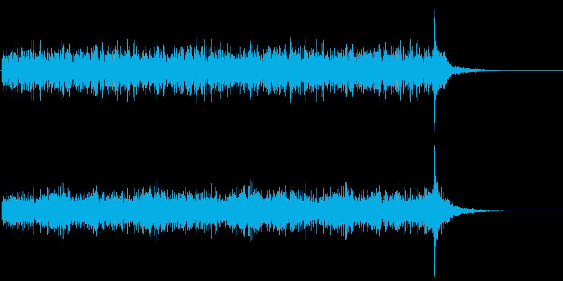 優勝発表に使うドラムロール20秒の再生済みの波形