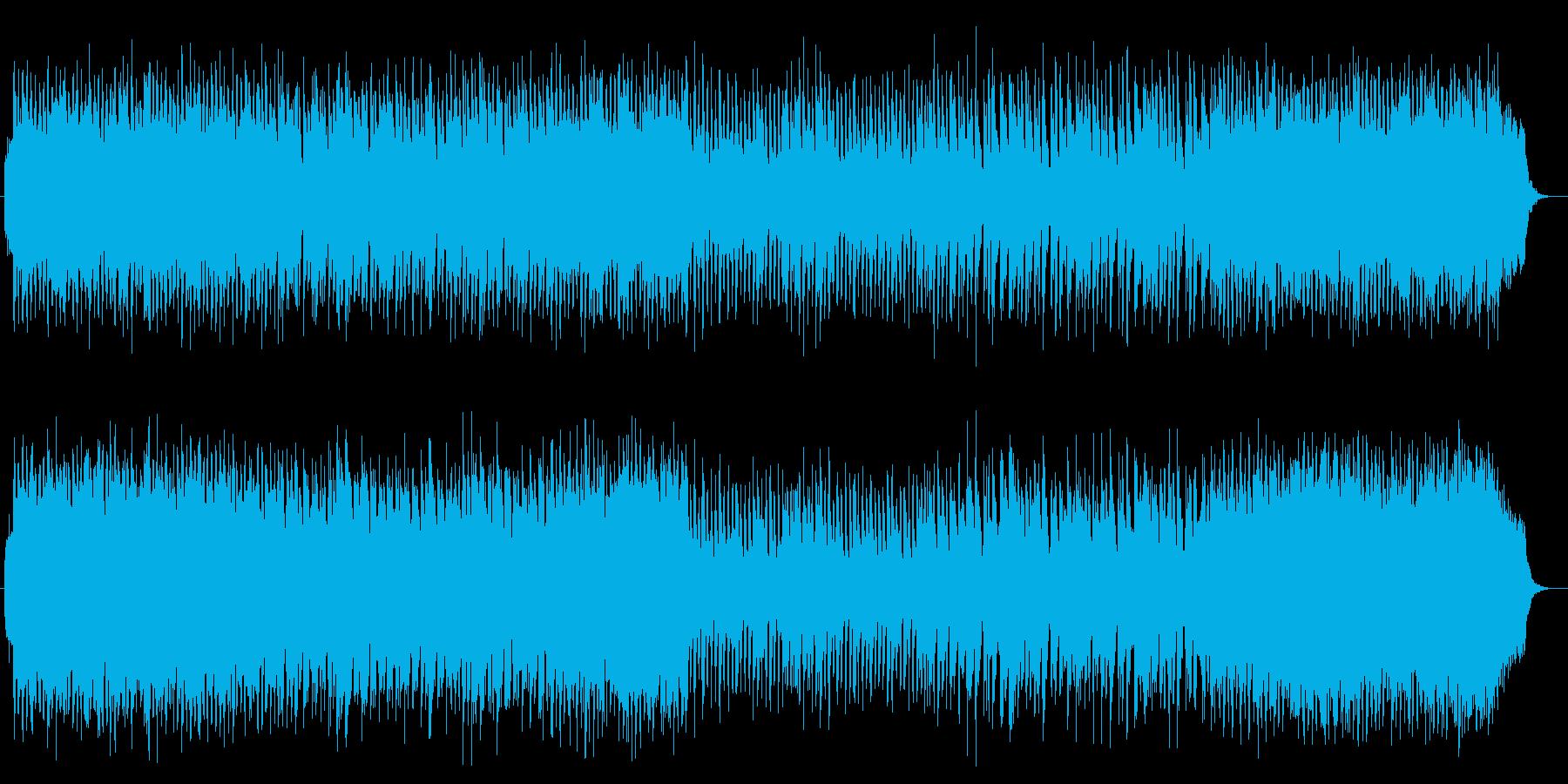 リズムに緊張感のあるオーケストラ曲の再生済みの波形