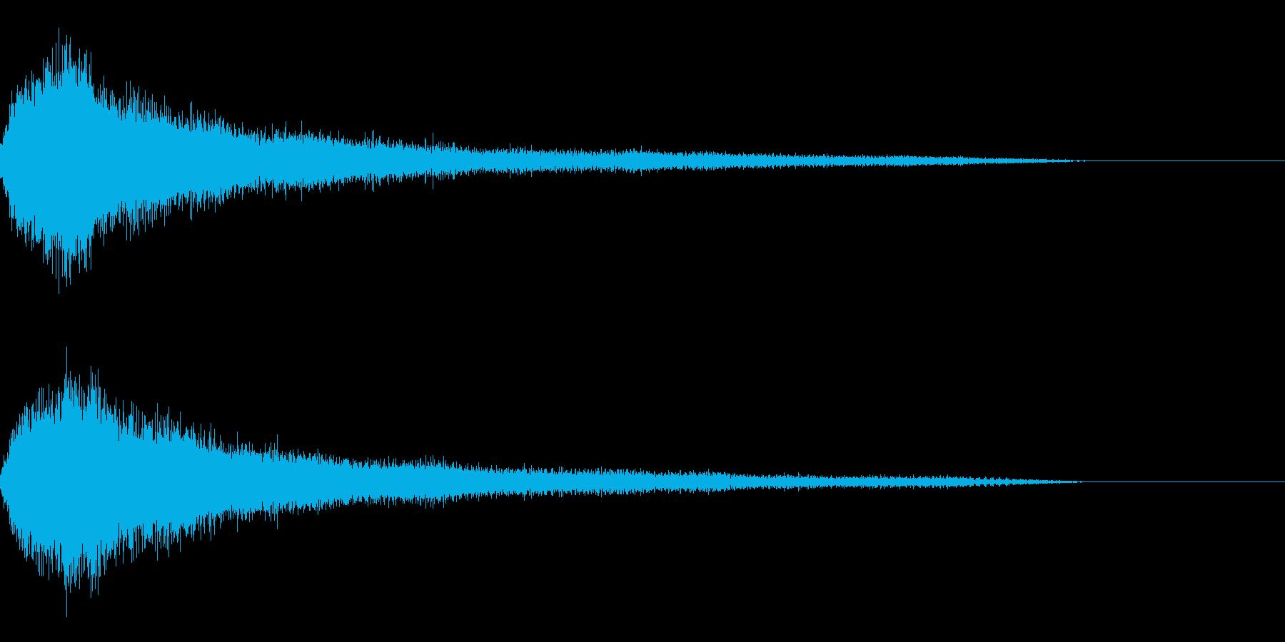 ホラー1(幽霊が現れる音)の再生済みの波形