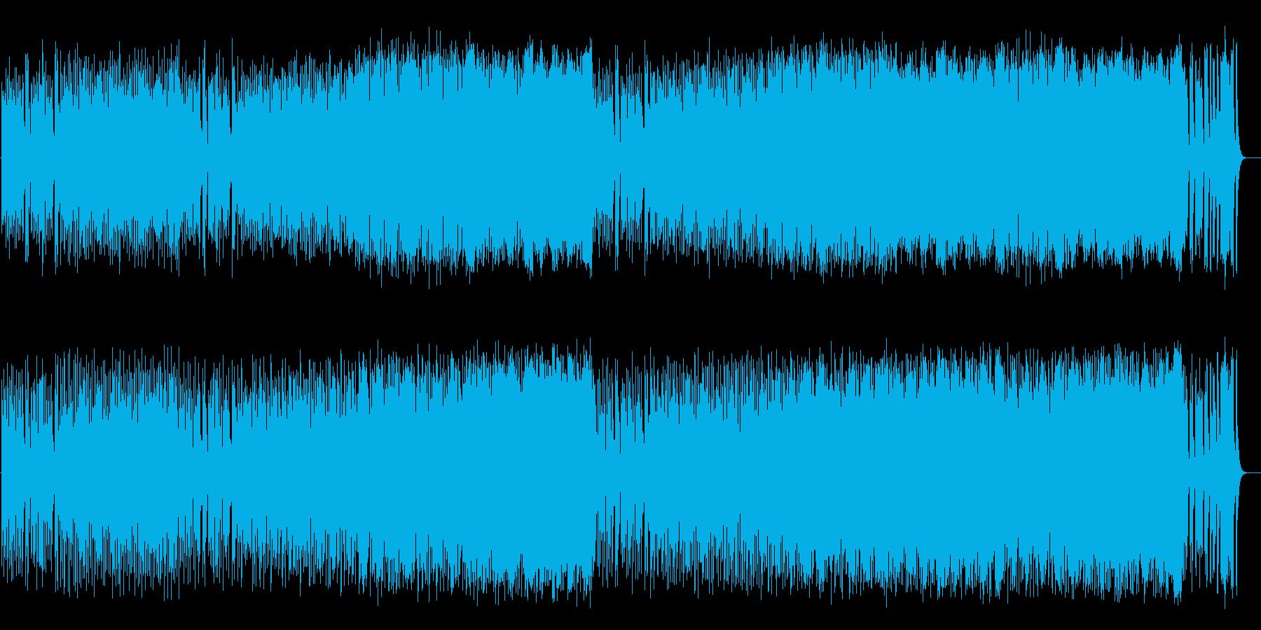 愛らしいコミカル調BGM(フルサイズ)の再生済みの波形