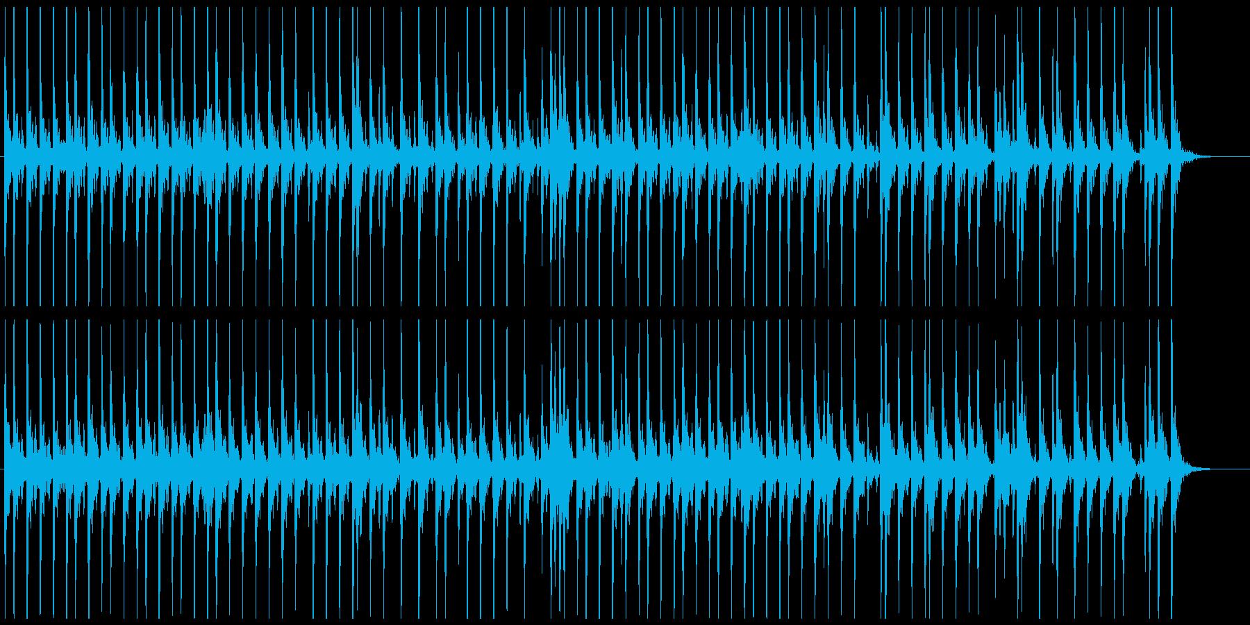 相撲の寄せ太鼓風SE その4の再生済みの波形