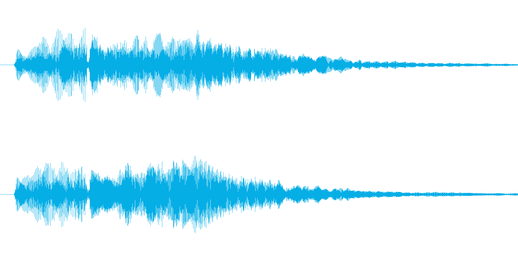 チュイーン-ワンポイント電子音の再生済みの波形