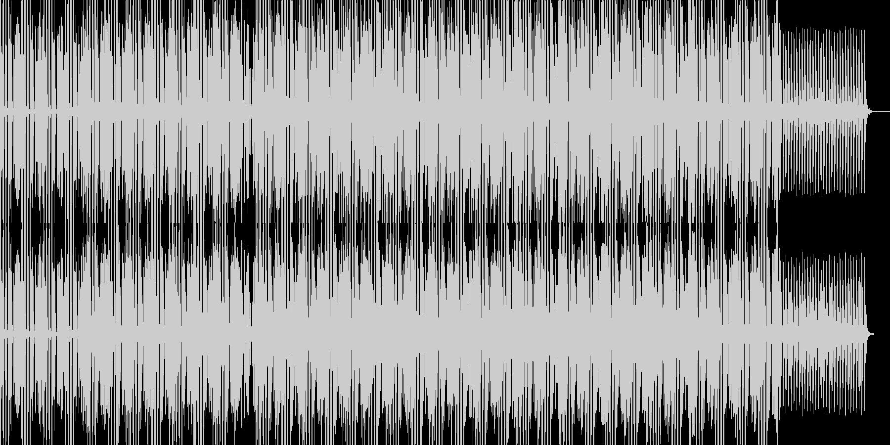 ダンス感のあるアンビエントの未再生の波形