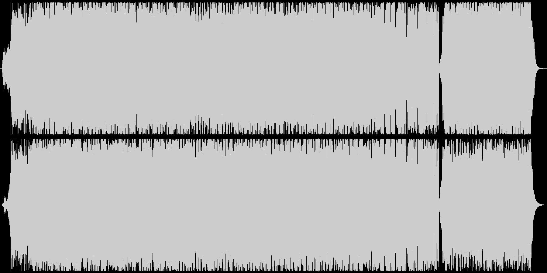 戦闘シーンを盛り上げる王道Rockの劇伴の未再生の波形