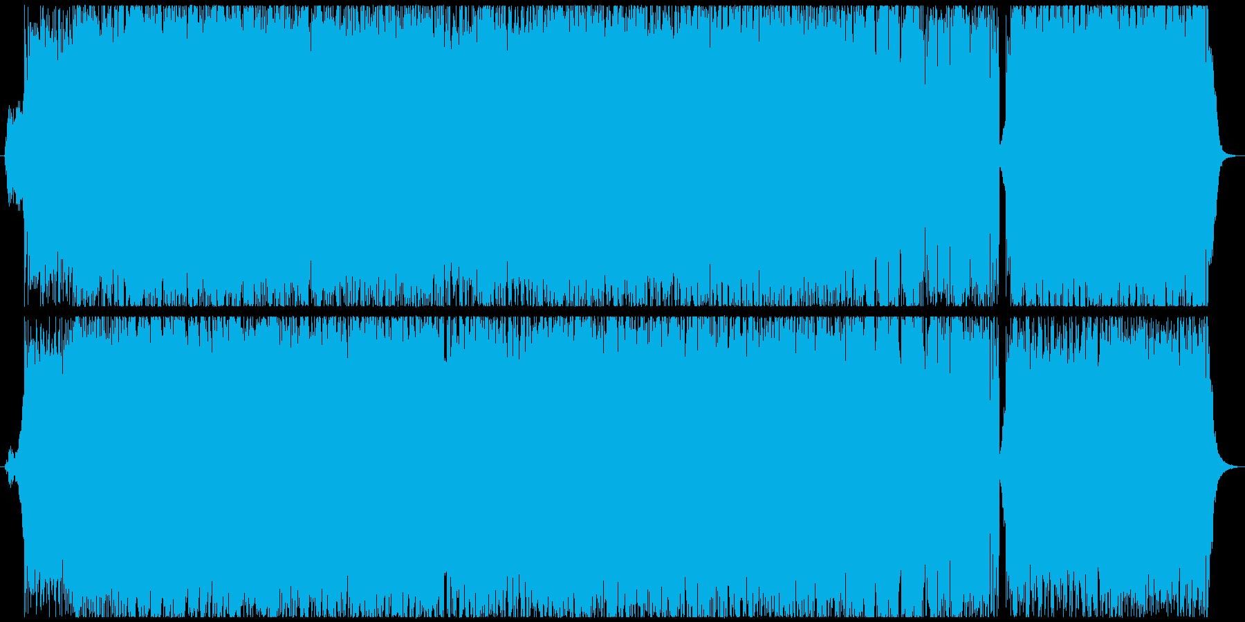 戦闘シーンを盛り上げる王道Rockの劇伴の再生済みの波形