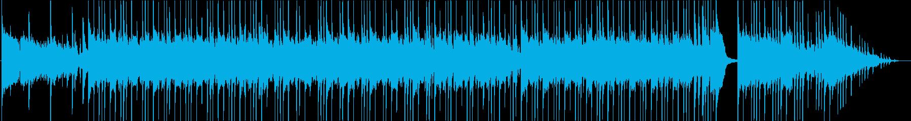 ブルージーなサウンドのギターインストの再生済みの波形