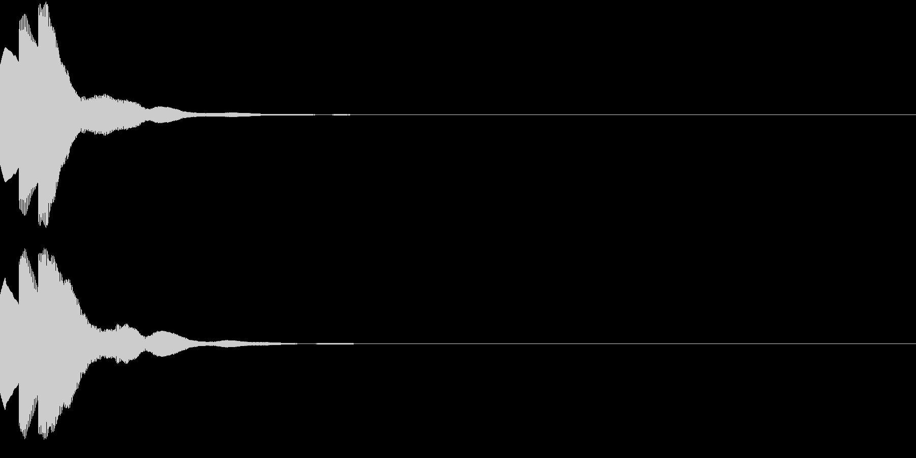 ベル キャンセル 閉じる チャラランの未再生の波形