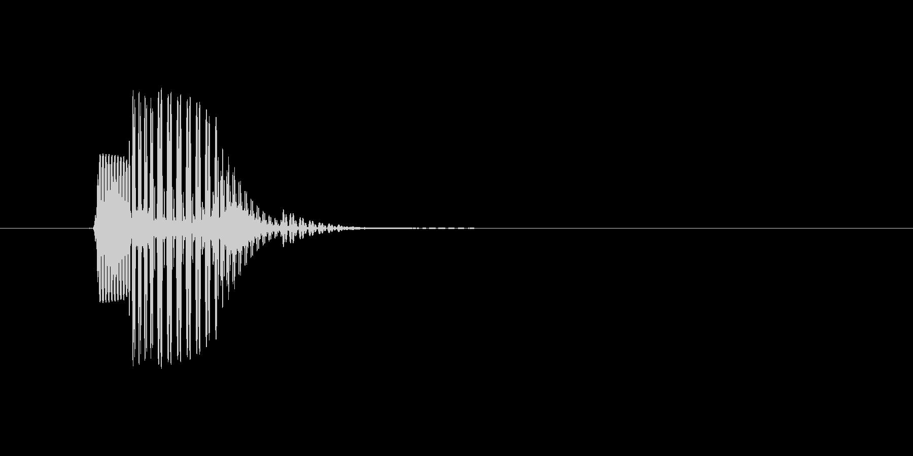 【効果音】メニュー系セットA_タッチの未再生の波形