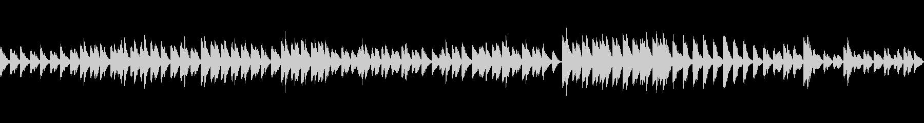 シンプルなバラード調のピアノループ素材の未再生の波形