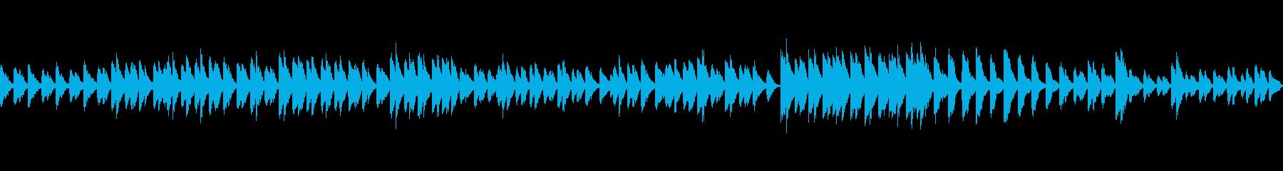 シンプルなバラード調のピアノループ素材の再生済みの波形