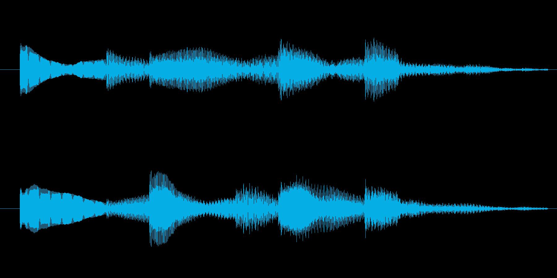 シンプルで分かりやすい2秒サウンドロゴの再生済みの波形