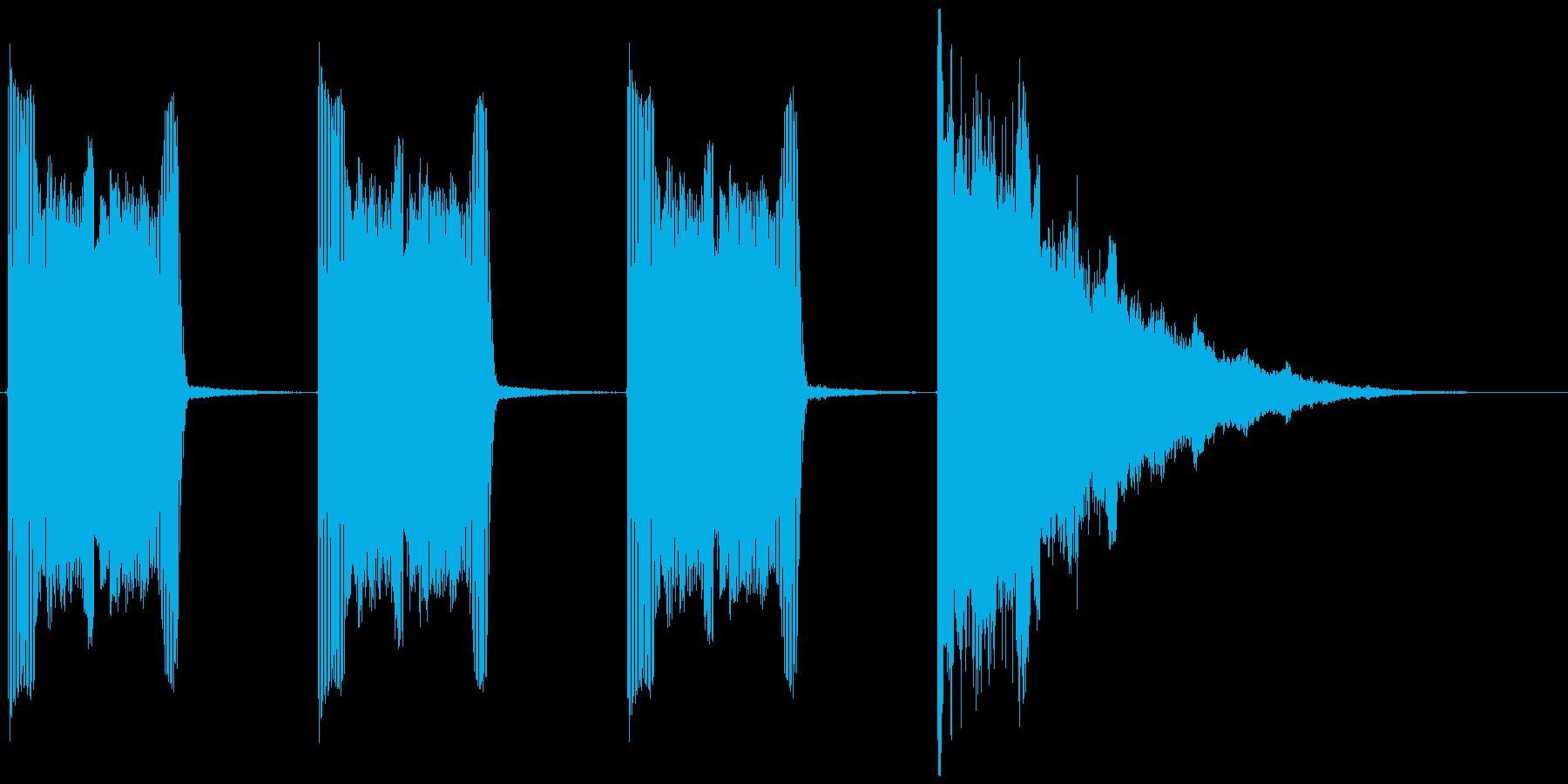 カウントダウンの音ですの再生済みの波形