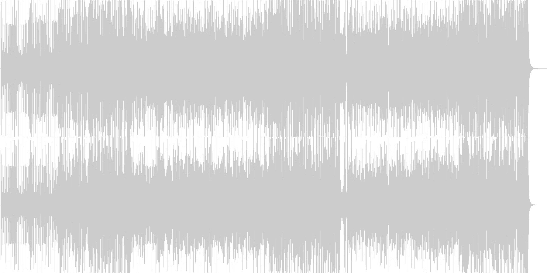 ピアノの旋律がおしゃれなジャズサンバの未再生の波形