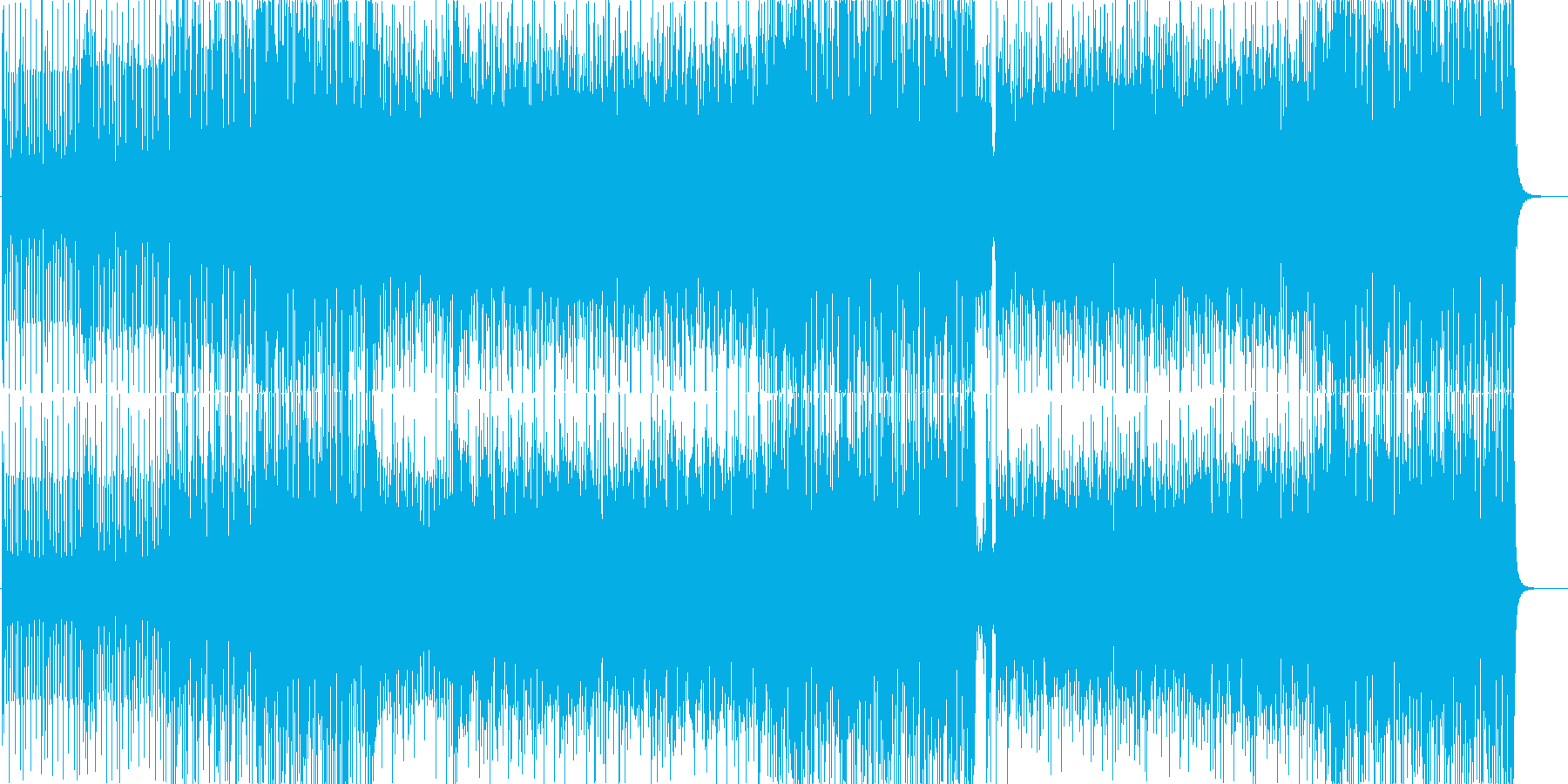 ピアノの旋律がおしゃれなジャズサンバの再生済みの波形