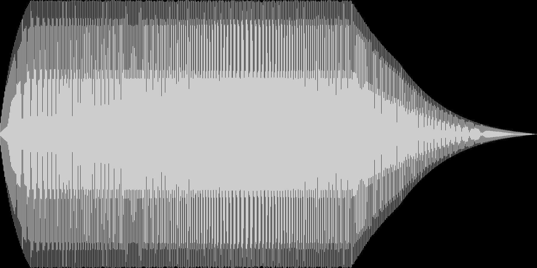 ニャー(猫 電子音 赤子)の未再生の波形