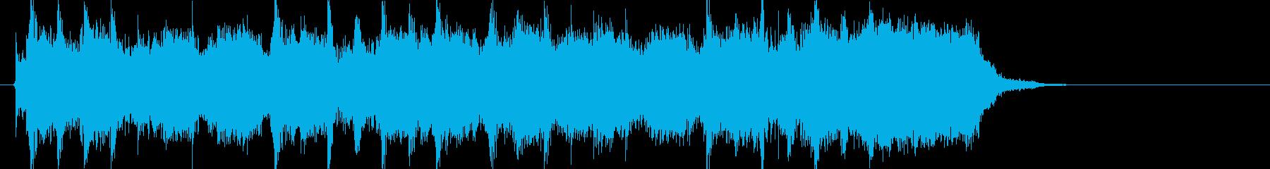 疾走感のあるエレキギタージングルの再生済みの波形
