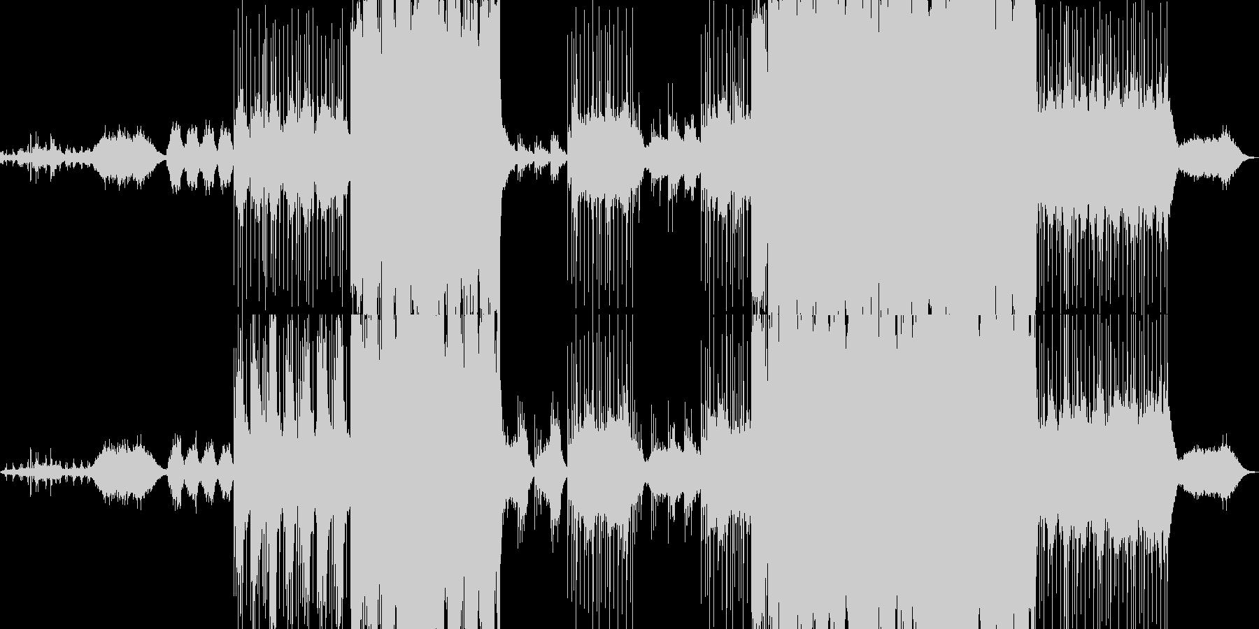 神秘的なバックに切ないピアノメロディの未再生の波形