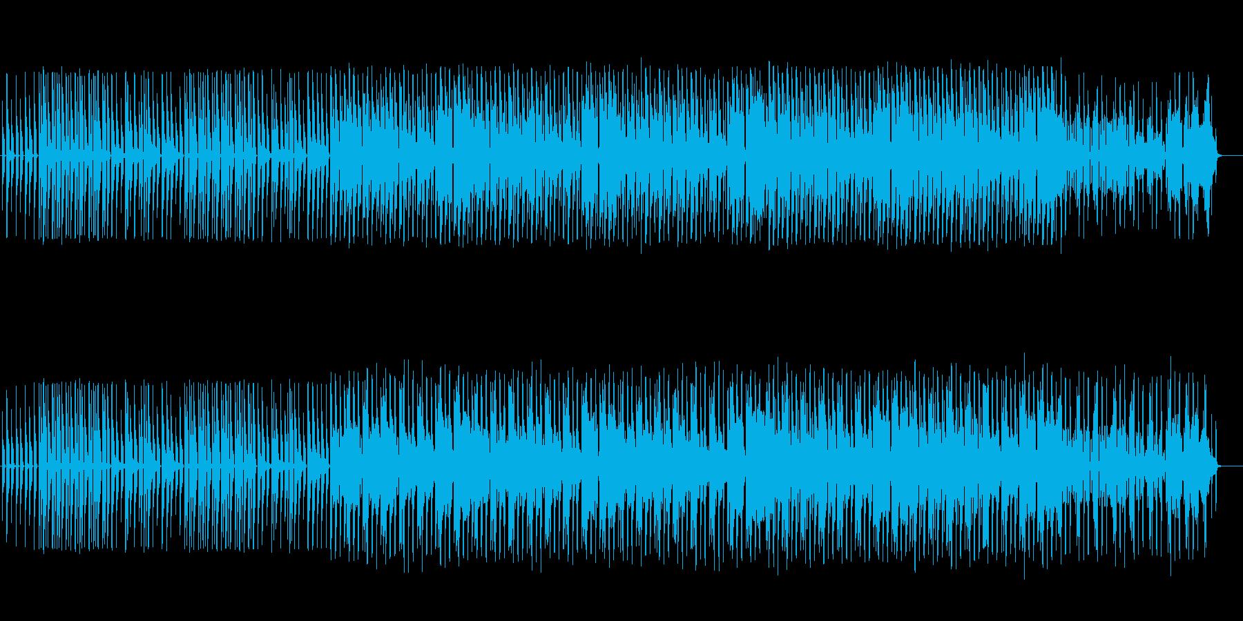 可愛いマーチング風ポップスの再生済みの波形