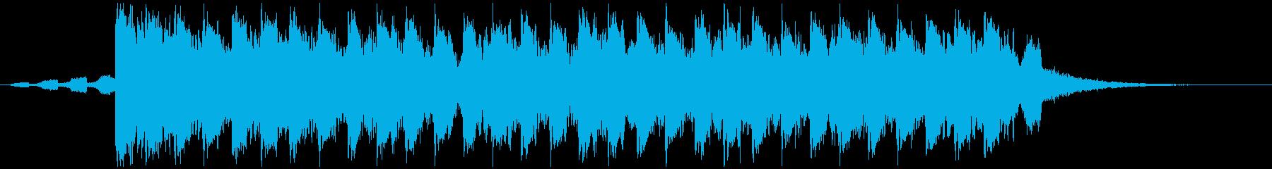 夏らしい洋楽風トロピカルハウスShortの再生済みの波形