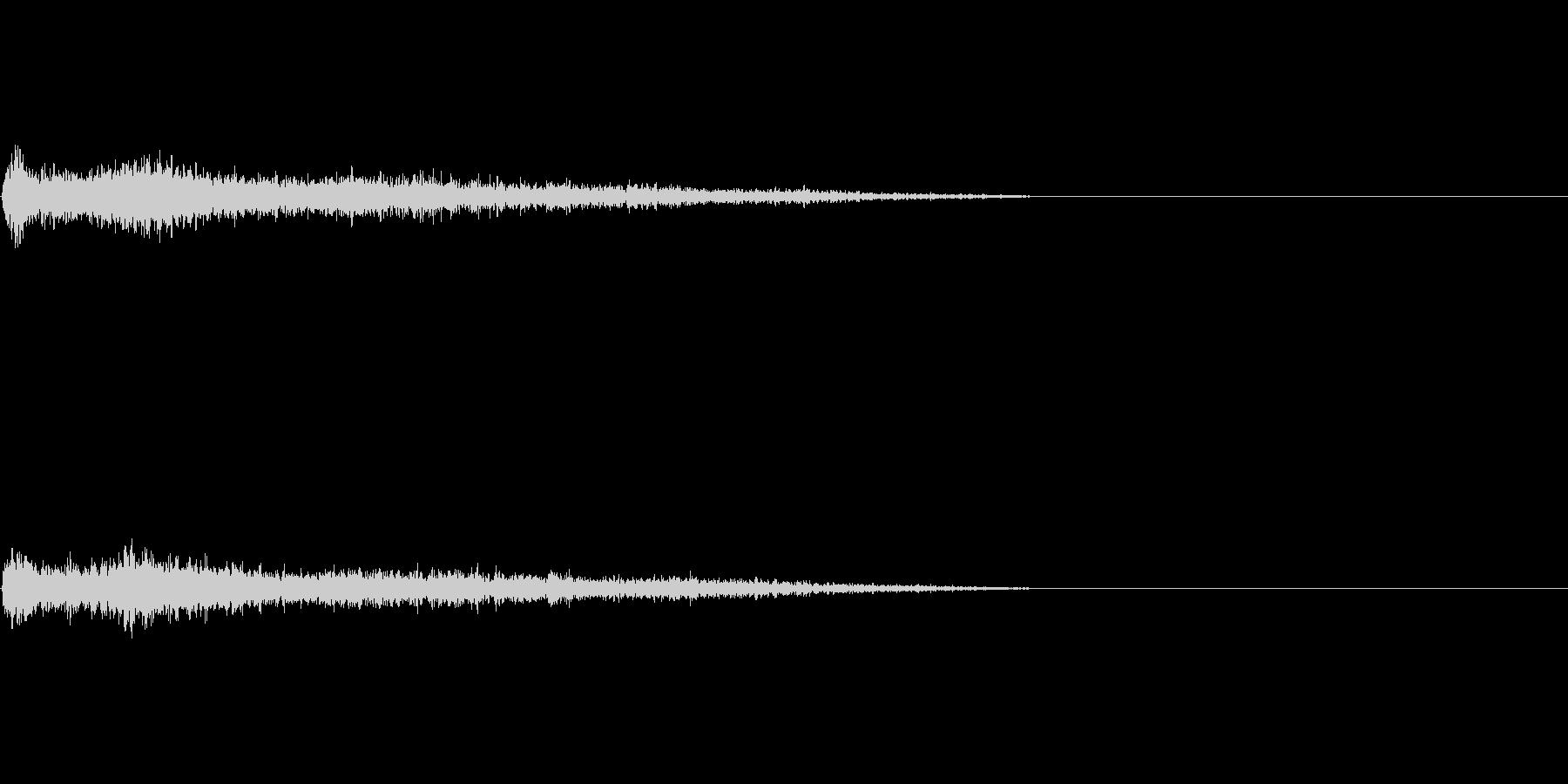 A♯マイナー インパクト音 衝撃音の未再生の波形
