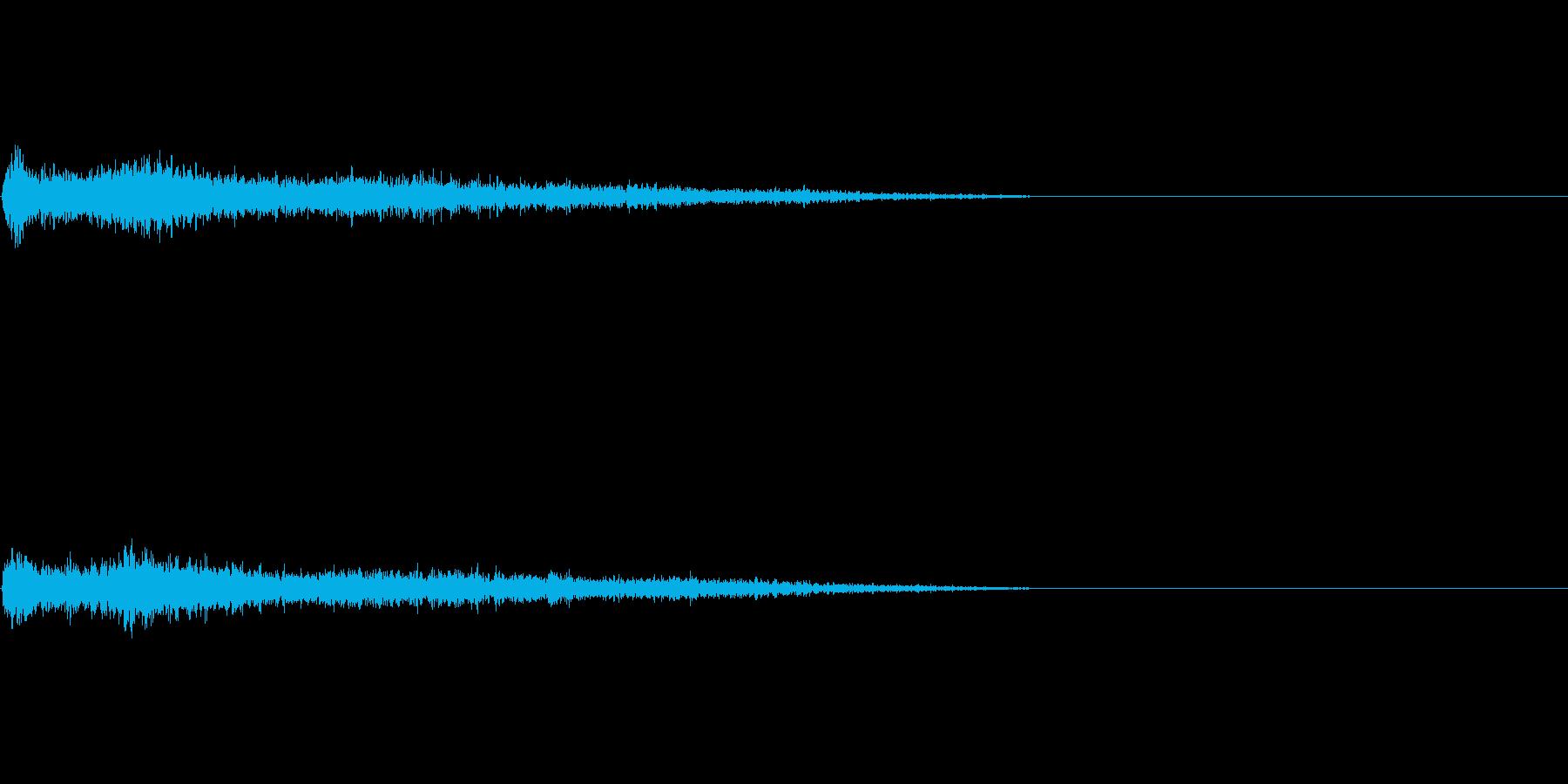 A♯マイナー インパクト音 衝撃音の再生済みの波形
