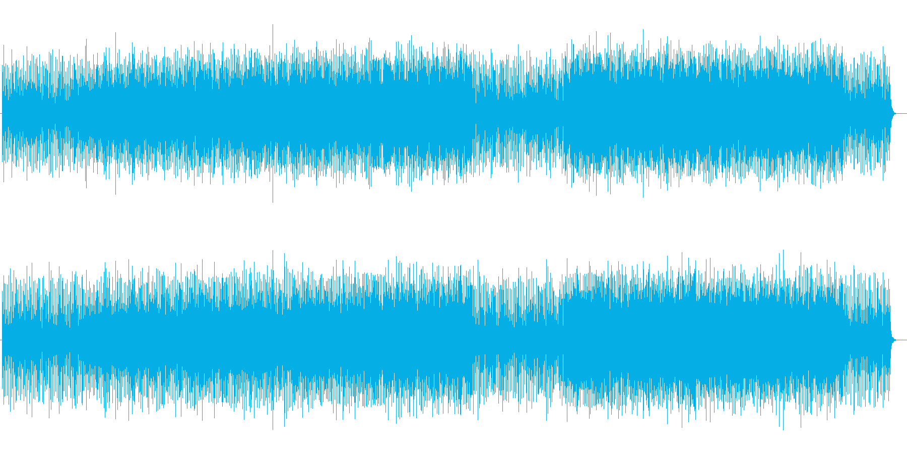 躍動的なシンセサイザーポップの再生済みの波形