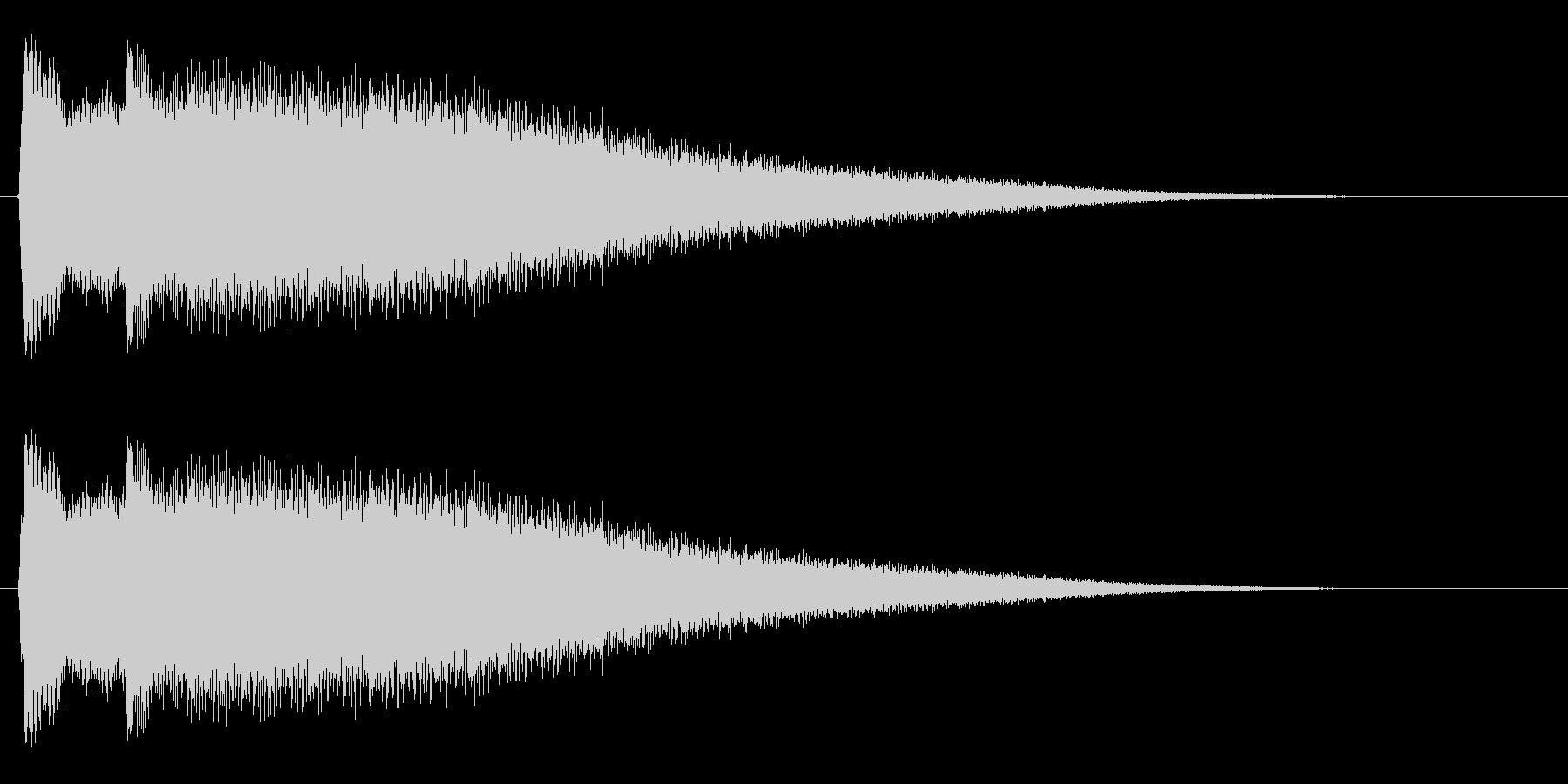 チリーンという小さい金属音の未再生の波形