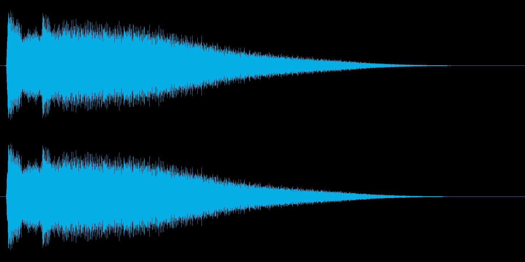 チリーンという小さい金属音の再生済みの波形