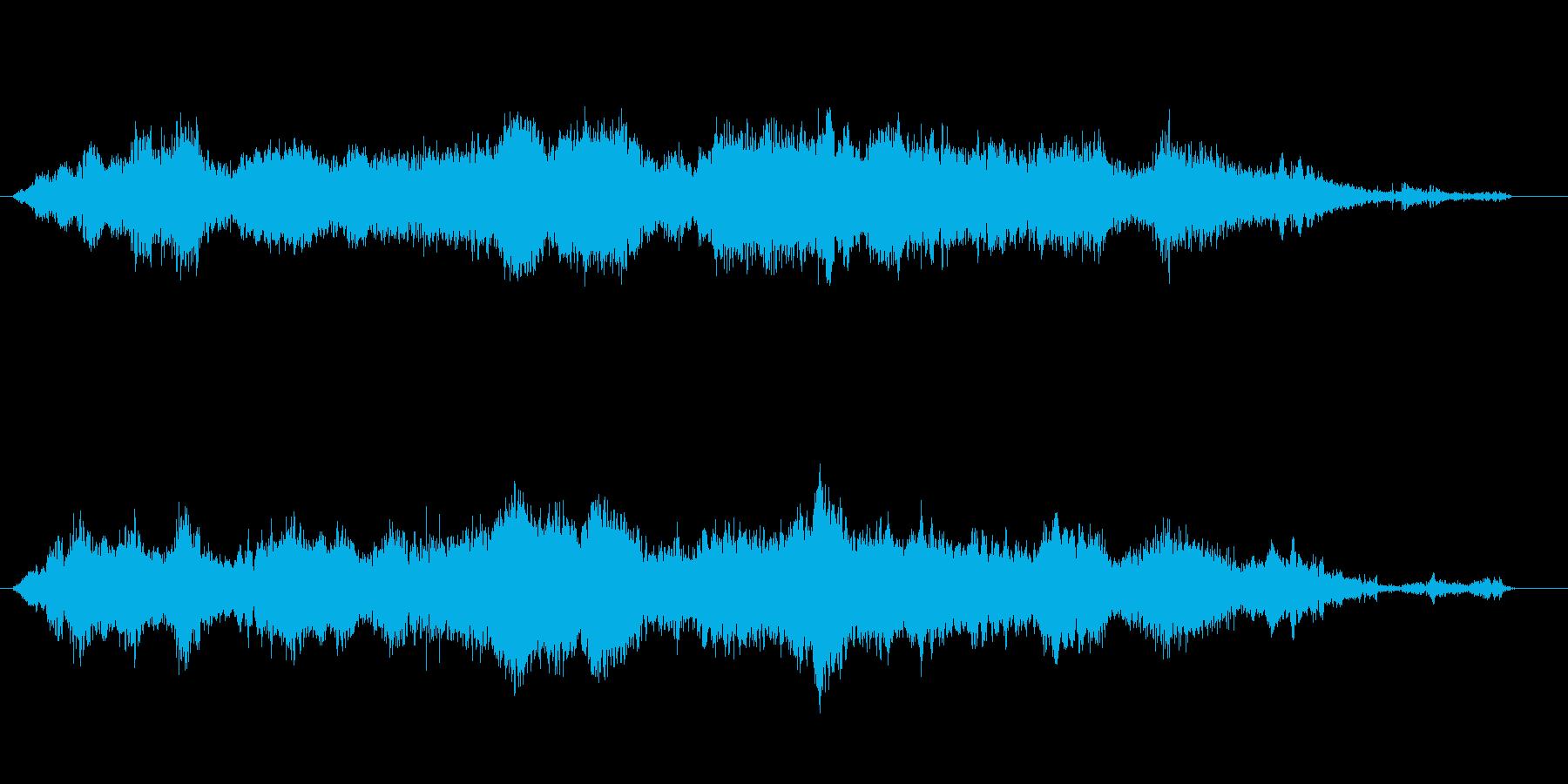 水の音が入った怪しげなBMGの再生済みの波形