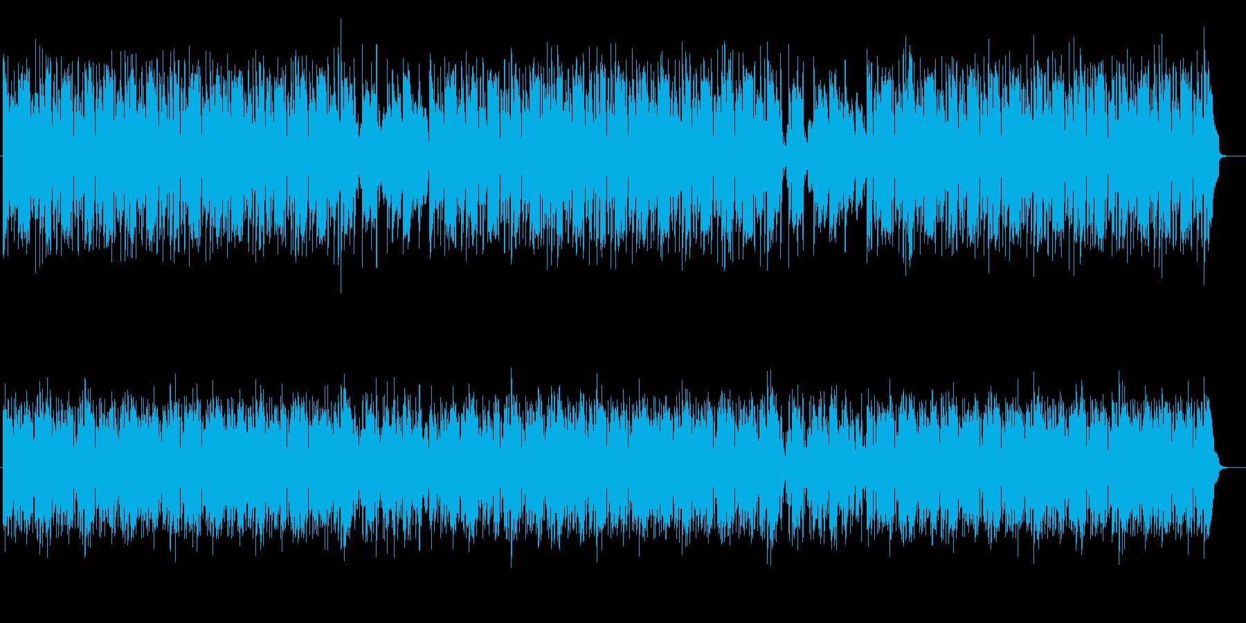 スウィングのリズムのポップスの再生済みの波形