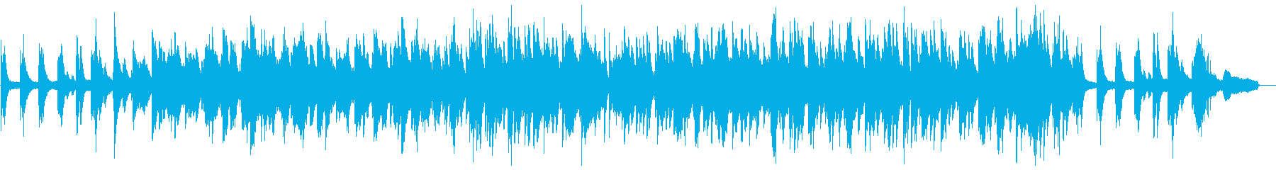 まったりとしたピアノソロの再生済みの波形