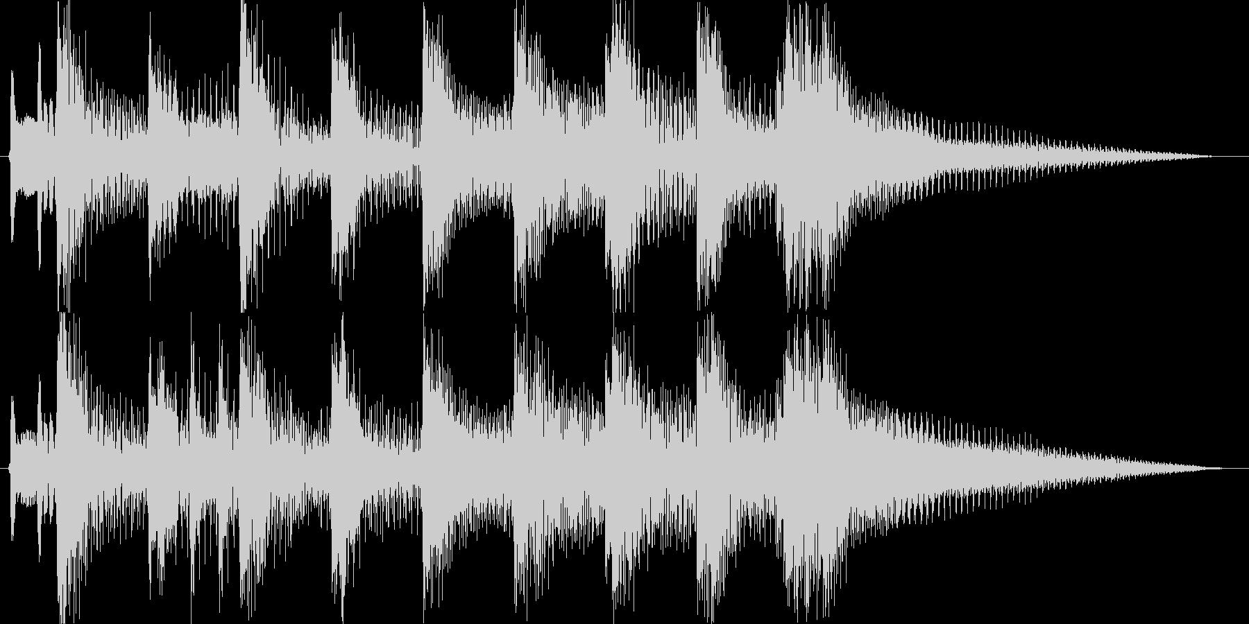 ほのぼのとした昭和レトロなジングルの未再生の波形