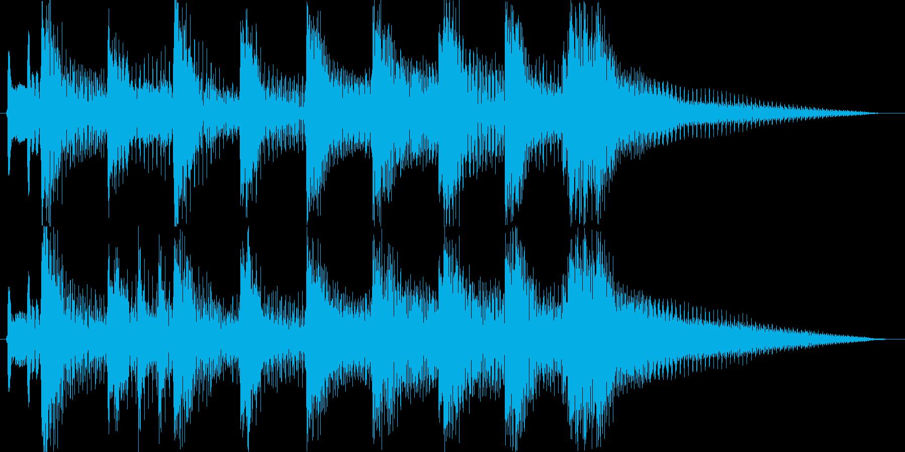 ほのぼのとした昭和レトロなジングルの再生済みの波形