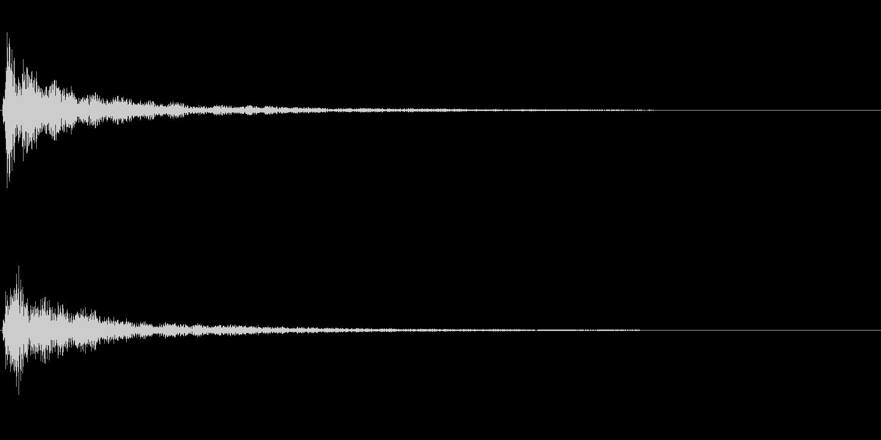 明るい和音~テロップ表示音~の未再生の波形