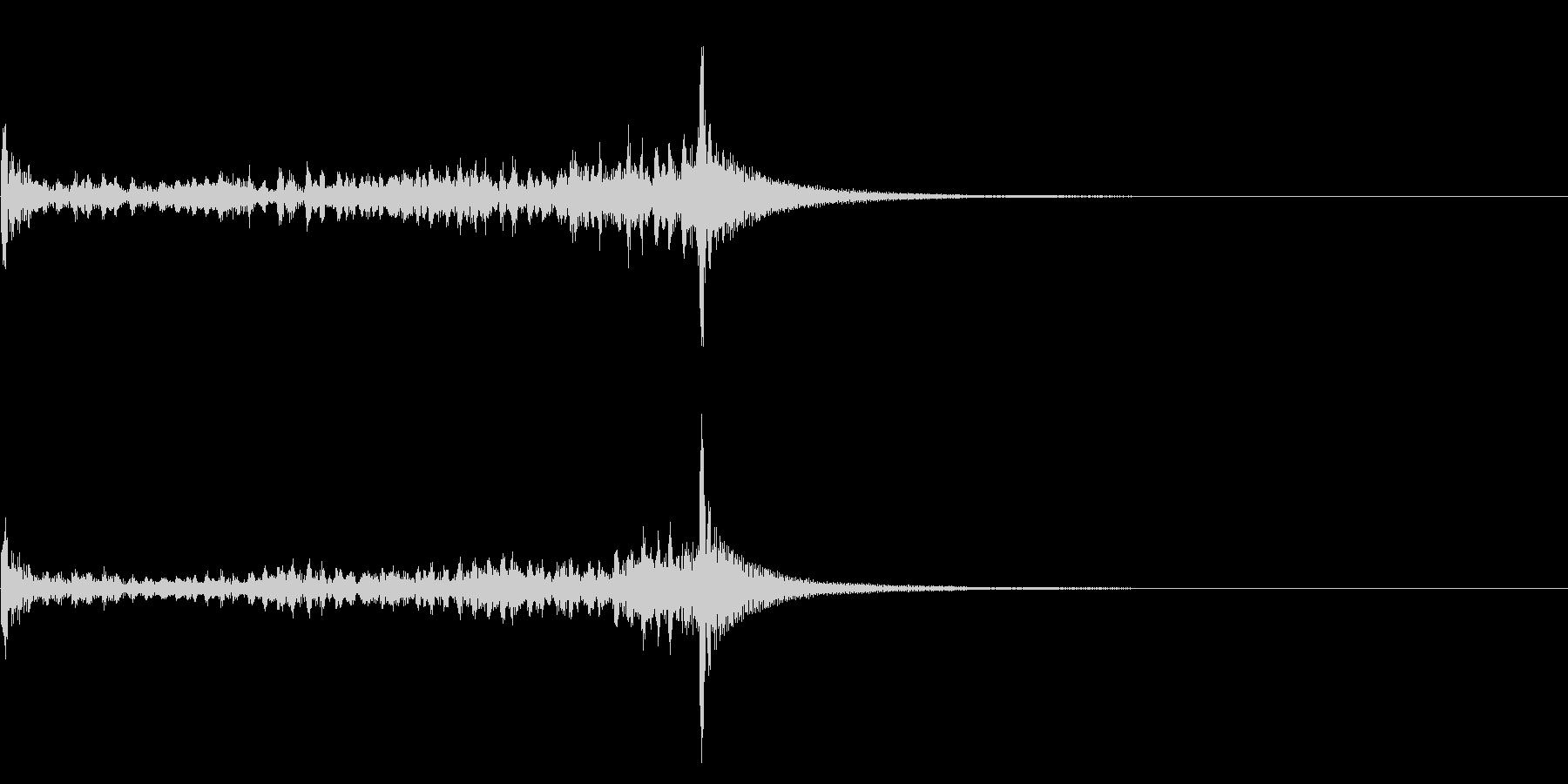 ティンパニーロール☆ミドル3の未再生の波形