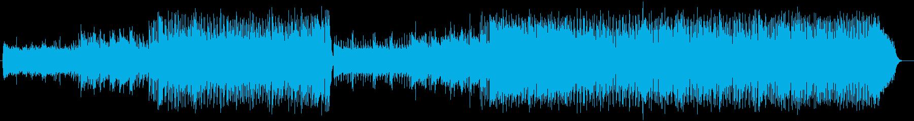 明るくリズムの良いポップの再生済みの波形