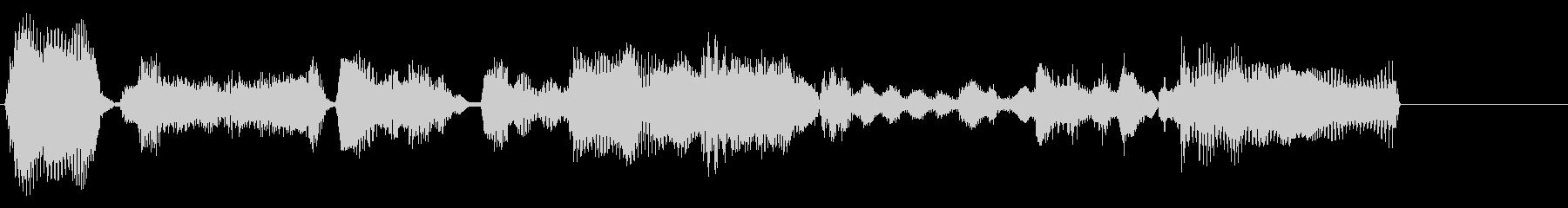 エレクトリックピアノの落ち着いたジングルの未再生の波形
