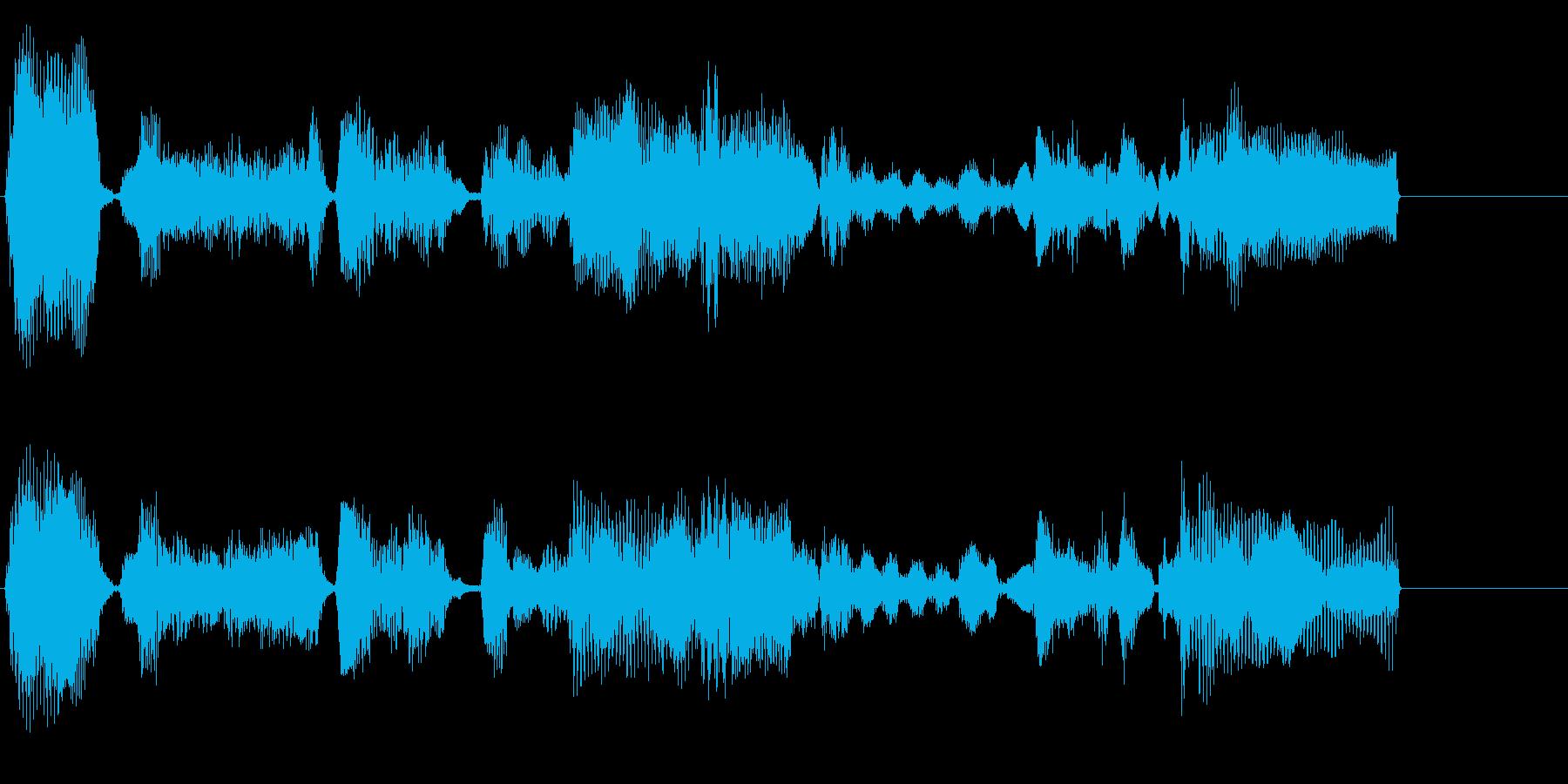 エレクトリックピアノの落ち着いたジングルの再生済みの波形