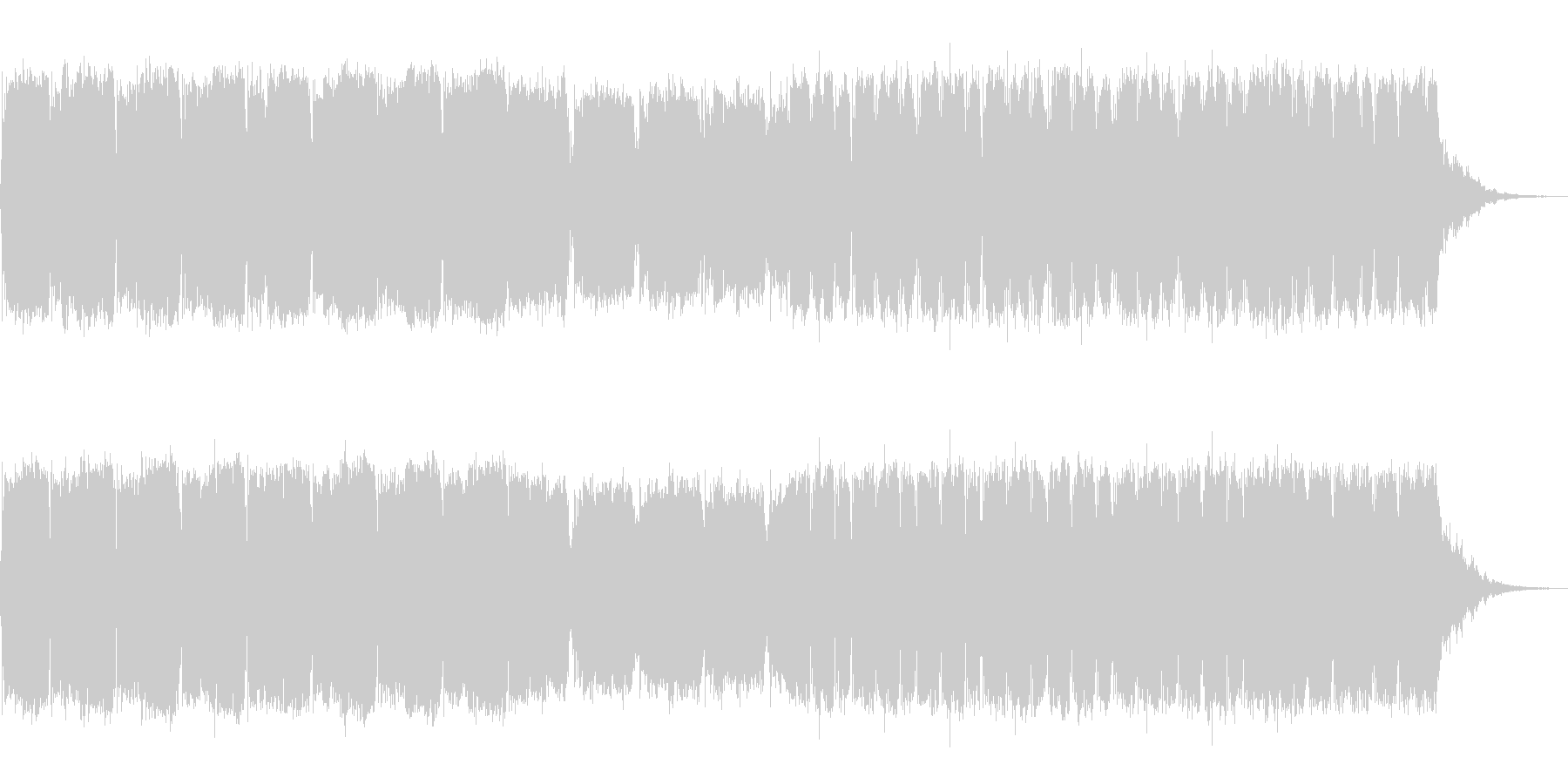 シンセによる元気の出る一曲の未再生の波形