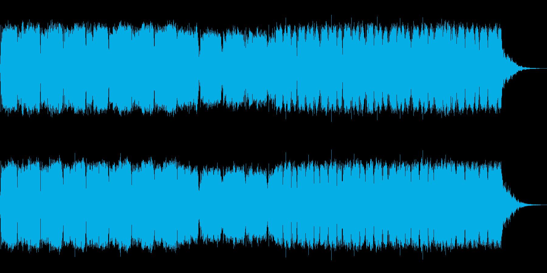 シンセによる元気の出る一曲の再生済みの波形