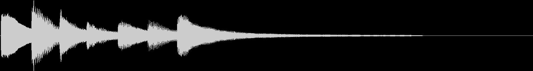 生演奏:静かに話しかけるようなピアノの未再生の波形