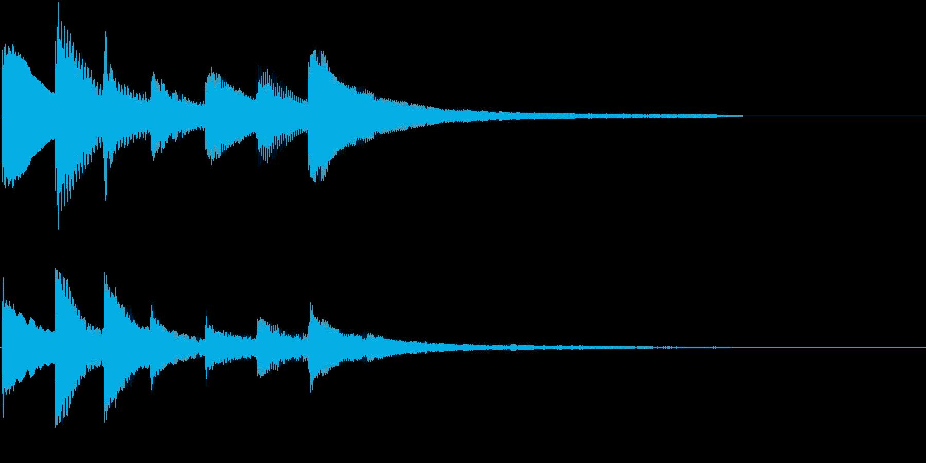 生演奏:静かに話しかけるようなピアノの再生済みの波形