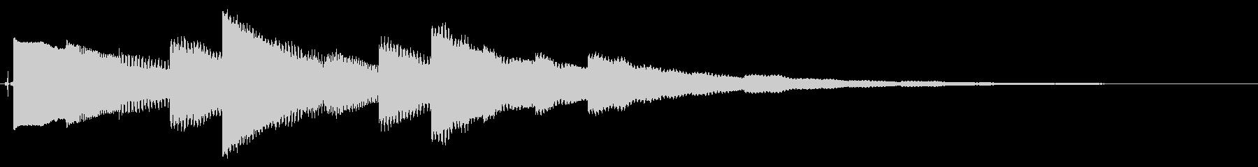 ベルの静かな場面転回音4の未再生の波形