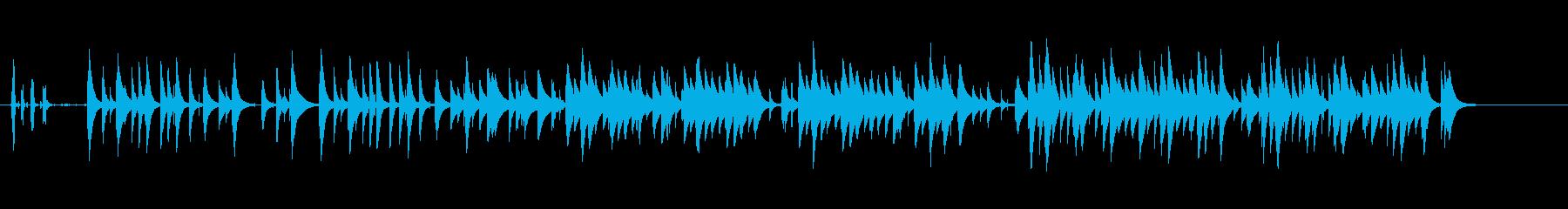 悲しい曲調のオルゴール曲です。の再生済みの波形