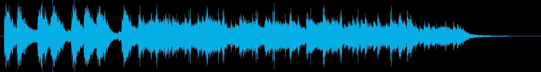 90年代アニメの次回予告風ジングルの再生済みの波形