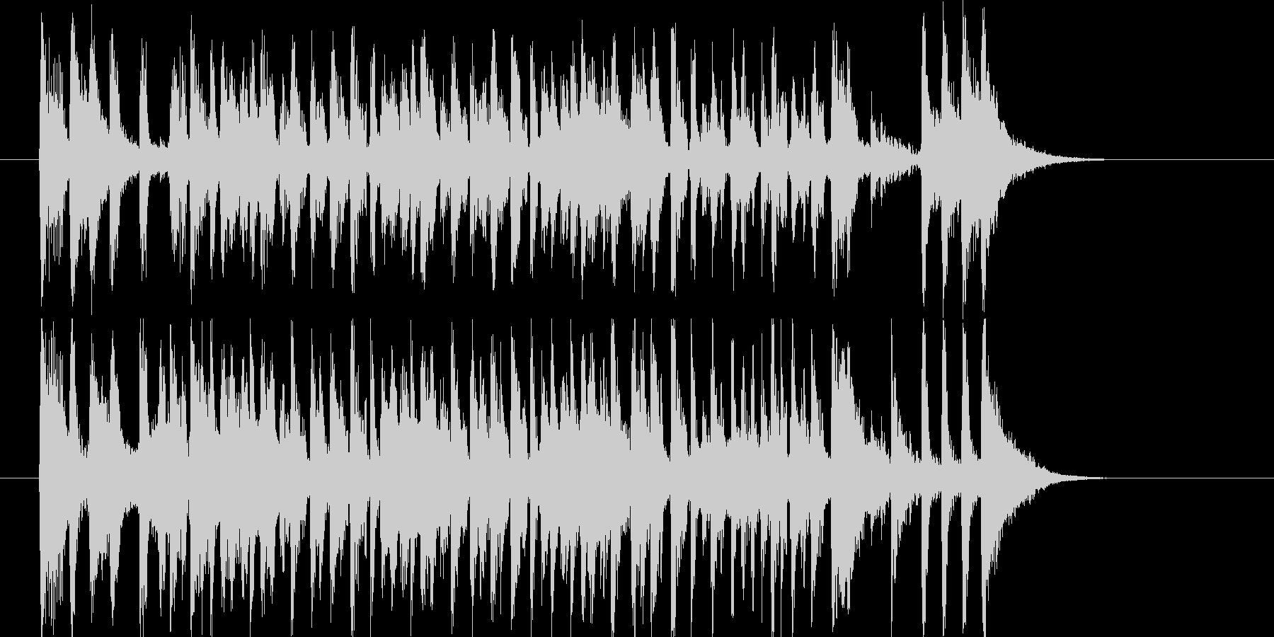 リズミカルでラテン系トランペットジングルの未再生の波形