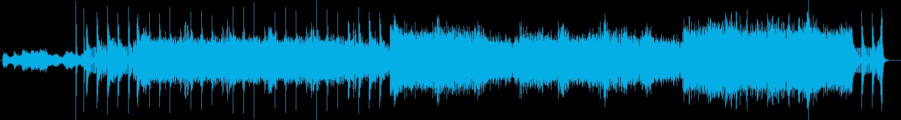 変則ビートでアンビエントなのテクノの曲の再生済みの波形