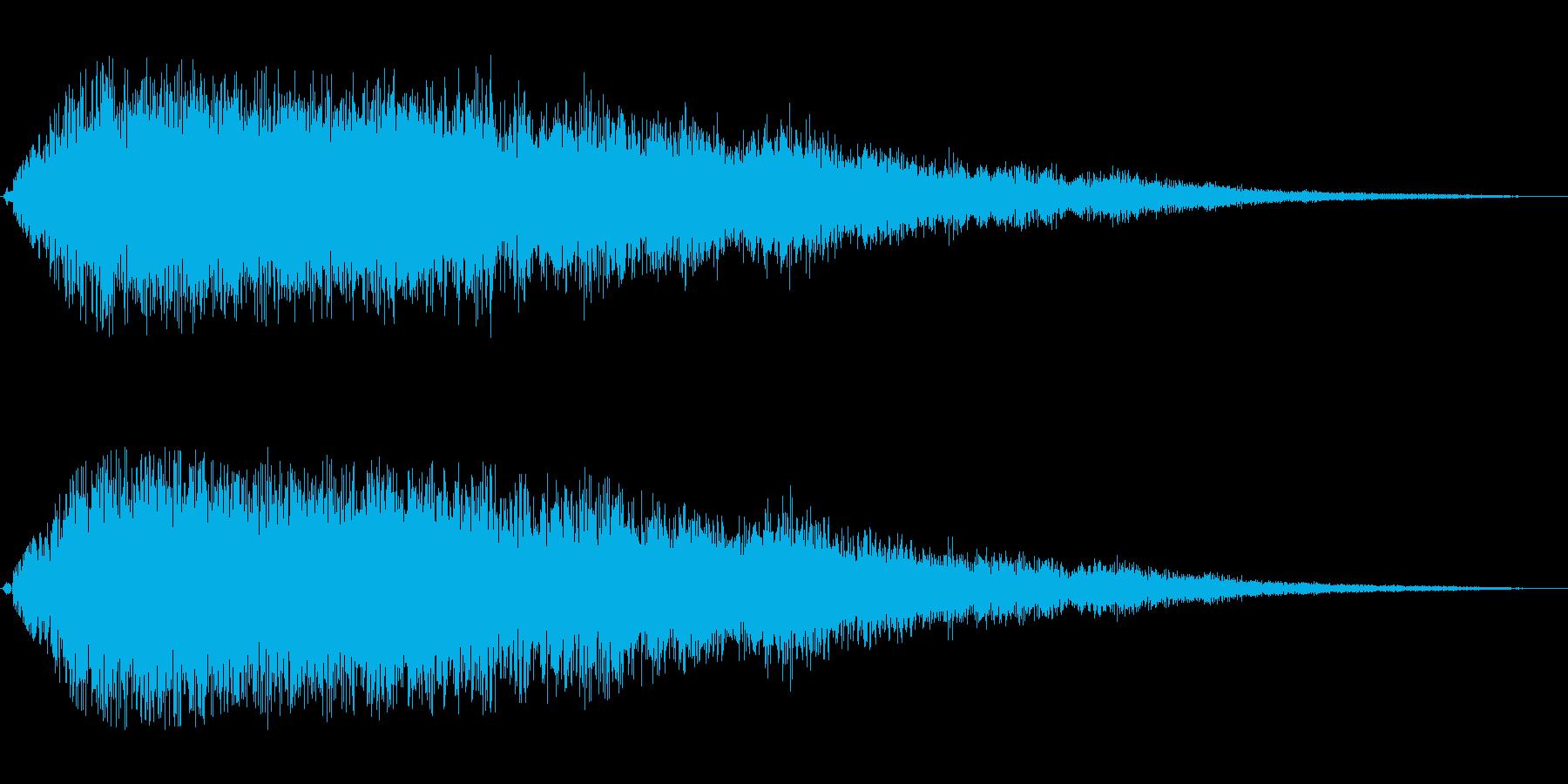シャララ(アップ長め)の再生済みの波形
